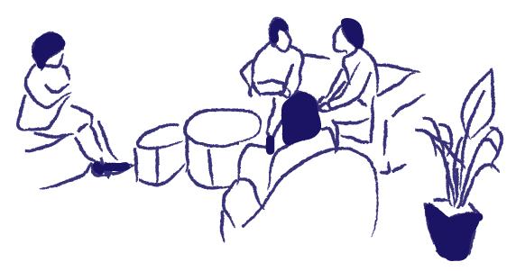 コミュニティスペースの絵