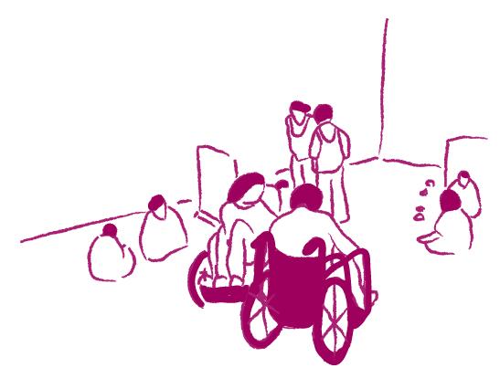 避難所の絵